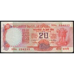 Inde - Pick 82e - 20 rupees - 1979 - Lettre A - Etat : TB+