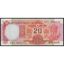 Inde - Pick 82h - 20 rupees - 1989 - Lettre B - Etat : SPL