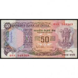 Inde - Pick 84c - 50 rupees - 1985 - Sans lettre - Etat : TB