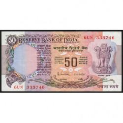 Inde - Pick 84c - 50 rupees - 1985 - Sans lettre - Etat : TTB+