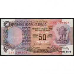 Inde - Pick 84c - 50 rupees - 1985 - Sans lettre - Etat : TB+