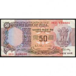 Inde - Pick 84d - 50 rupees - 1987 - Lettre A - Etat : TTB