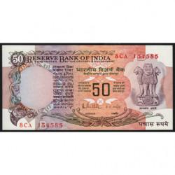 Inde - Pick 84e - 50 rupees - 1989 - Lettre B - Etat : SPL