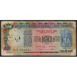 Inde - Pick 86b - 100 rupees - 1983 - Sans lettre - Etat : B