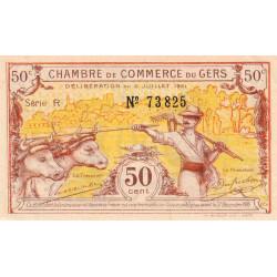Auch (Gers) - Pirot 15-29-R - 50 centimes - 1921 - Etat : SUP+