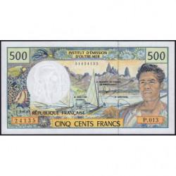 Territoire Français du Pacifique - Pick 1f - 500 francs - Série P.013 - 2008 - Etat : NEUF