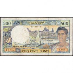 Territoire Français du Pacifique - Pick 1f - 500 francs - Série E.014 - 2008 - Etat : TB-