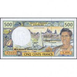 Territoire Français du Pacifique - Pick 1g - 500 francs - Série L.016 - 2010 - Etat : NEUF