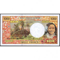 Territoire Français du Pacifique - Pick 2l - 1'000 francs - Série F.051 - 2012 - Etat : NEUF