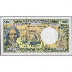 Territoire Français du Pacifique - Pick 3e - 5'000 francs - Série V.007 - 2000 - Etat : TTB