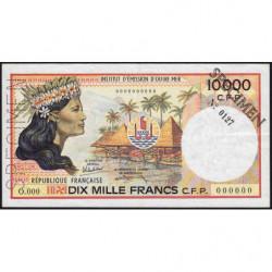 Territoire Français du Pacifique - Pick 4as spécimen - 10'000 francs - 1986 - Etat : TTB+