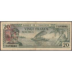 Nouvelles Hébrides - Pick 7 - 20 francs - 1945 - Etat : TTB-