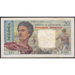 Nouvelles Hébrides - Pick 8 - 20 francs - 1951 - Etat : TTB