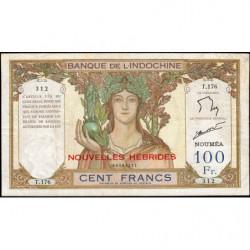 Nouvelles Hébrides - Pick 10c - 100 francs - 1944 - Etat : TTB