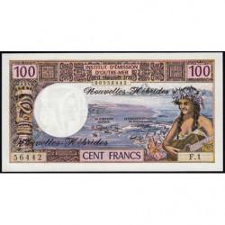 Nouvelles Hébrides - Pick 18b - 100 francs - Série  F1 -1972 - Etat : NEUF