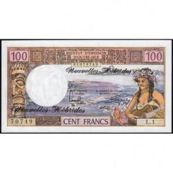 Nouvelles Hébrides - Pick 18d - 100 francs - 1977 - Etat : NEUF