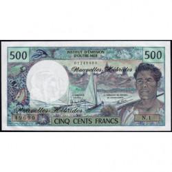 Nouvelles Hébrides - Pick 19c - 500 francs - Série  N1 - 1980 - Etat : NEUF