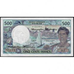 Nouvelles Hébrides - Pick 19c - 500 francs - 1980 - Etat : NEUF