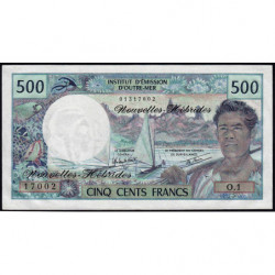 Nouvelles Hébrides - Pick 19c - 500 francs - Série  O1 - 1980 - Etat : NEUF