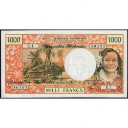 Nouvelles Hébrides - Pick 20a - 1'000 francs - Série  E1 - 1970 - Etat : SUP+