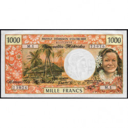 Nouvelles Hébrides - Pick 20c - 1'000 francs - Série  M1 - 1980 - Etat : pr.NEUF