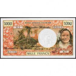 Nouvelles Hébrides - Pick 20c - 1'000 francs - Série  N1 - 1980 - Etat : NEUF
