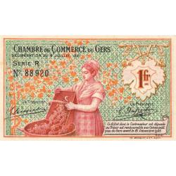 Auch (Gers) - Pirot 15-31 - 1 franc - Série R - 06/07/1921 - Etat : SPL