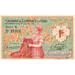 Auch (Gers) - Pirot 15-31-R - 1 franc - 1921 - Etat : SPL
