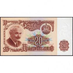 Bulgarie - Pick 97b - 20 leva - 1987 - Etat : NEUF