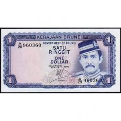 Brunei - Pick 6b - 1 dollar - 1980 - Etat : NEUF