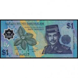 Brunei - Pick 22a - 1 dollar - 1996 - Polymère - Etat : TTB