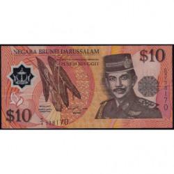 Brunei - Pick 24a - 10 dollars - 1996 - Polymère - Etat : TTB