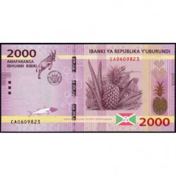 Burundi - Pick 52a - 2'000 francs - Série CA - 15/01/2015 - Etat : NEUF