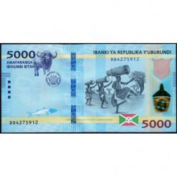 Burundi - Pick 53b - 5'000 francs - Série DD - 04/07/2018 - Etat : NEUF