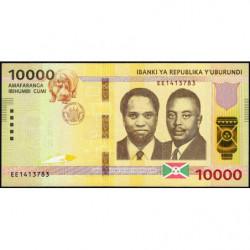 Burundi - Pick 54b - 10'000 francs - Série EE - 04/07/2018 - Etat : NEUF