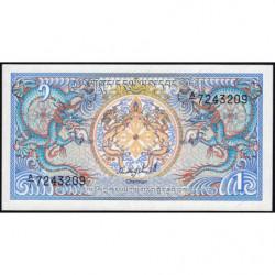 Bhoutan - Pick 12a - 1 ngultrum - 1986 - Série A/1 - Etat : NEUF