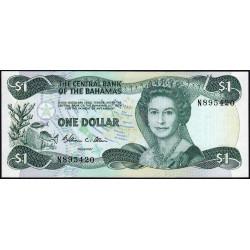 Bahamas - Pick 43a - 1 dollar - Loi 1974 (1984) - Etat : NEUF