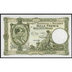 Belgique - Pick 110_2 - 1'000 francs ou 200 belgas - 22/01/1944 - Etat : NEUF