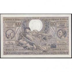 Belgique - Pick 112 - 100 frank ou 20 belgas - 15/05/1943 - Etat : NEUF