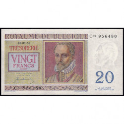 Belgique - Pick 132a - 20 francs - 01/07/1950 - Etat : NEUF