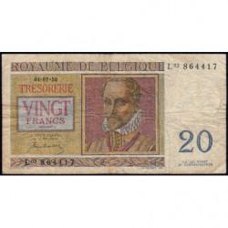Belgique - Pick 132a - 20 francs - 01/07/1950 - Etat : TB