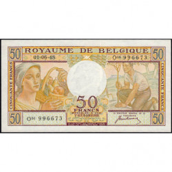 Belgique - Pick 133a - 50 francs - 01/06/1948 - Etat : SUP+