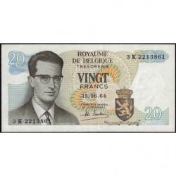 Belgique - Pick 138_2 - 20 francs - Série 3 - 15/06/1964 - Etat : SUP