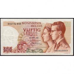 Belgique - Pick 139_1a - 50 francs - 15/06/1966 (1975) - Etat : TTB