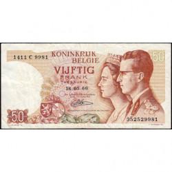 Belgique - Pick 139_4 - 50 francs - 15/06/1966 (1984) - Etat : TTB