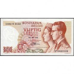 Belgique - Pick 139_4 - 50 francs - 15/06/1966 (1984) - Etat : SUP