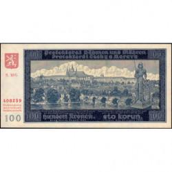 Bohême-Moravie - Pick 7a_2 - 100 korun - 20/08/1940 - Série 18G - Etat : NEUF