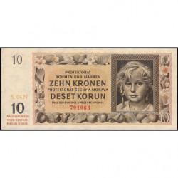 Bohême-Moravie - Pick 8b - 10 korun - 08/07/1842 - Série N - Etat : SUP