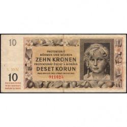 Bohême-Moravie - Pick 8a - 10 korun - 08/07/1842 - Série 33N - Etat : TB+