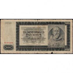 Bohême-Moravie - Pick 13 - 1'000 korun - 24/10/1942 - Série K - Etat : B